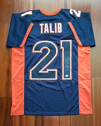 the best attitude d9433 4e605 Amazon.com: Aqib Talib Signed Autographed Jersey Denver ...