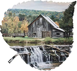 product image for Metal Wall Art - Barn and Waterfall Hanging Wall Decor - Country Rustic Design - Handmade in the USA for Use Indoors or Outdoors
