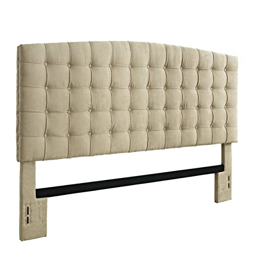 Dorel Living King Headboard, Beige Microfiber