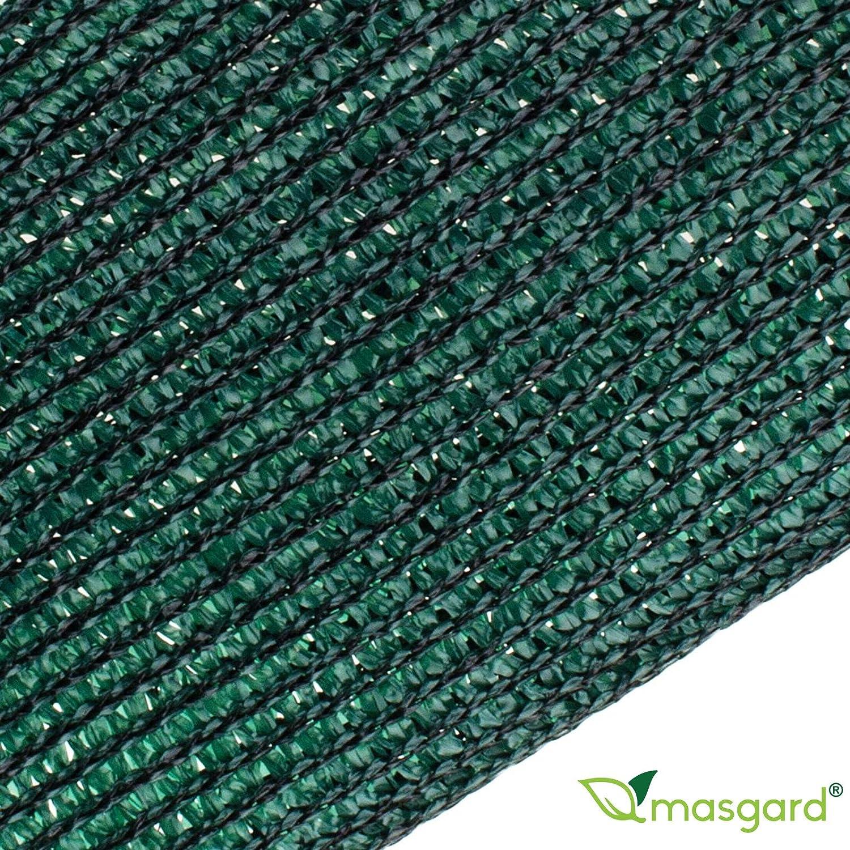 Masgard/® brise vue renforc/é vert 150 g//m/² brise vent tissu dombrage diff/érentes dimensions 1,00 m x 10,00 m = 10 m/² pli/ée
