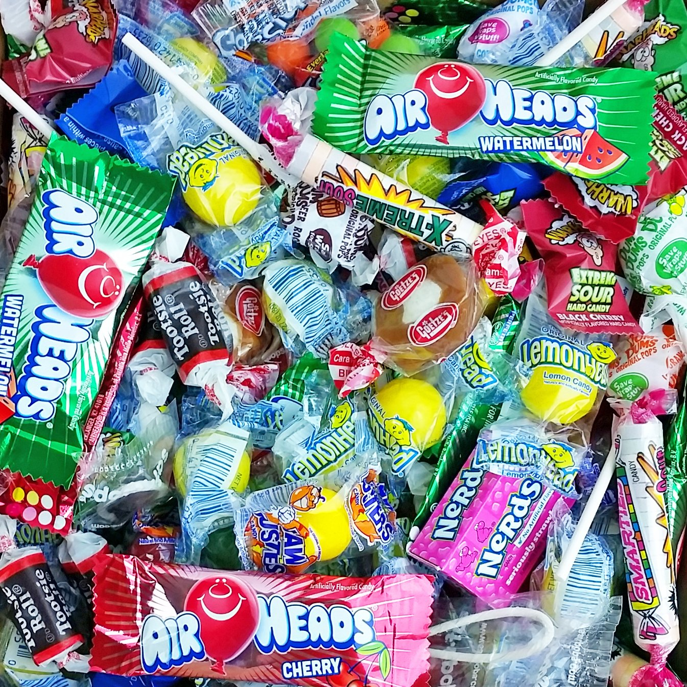 Assorted Candy Party Mix, 6x6x6 Bulk Box (Appx. 4 Lbs): Fire Balls, Airheads, Jawbusters, Laffy Taffys, Tootsie Rolls and Much More of Your Favorite Candy! by A Great Surprise