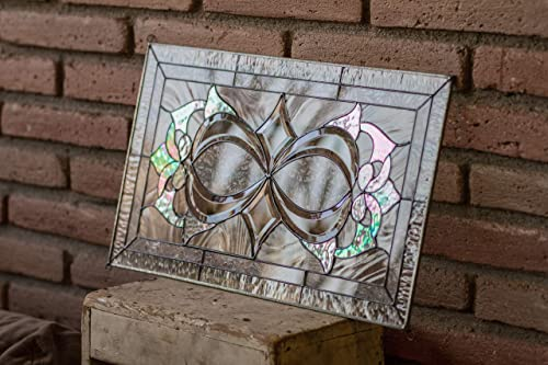 Custom Stained Glass Window Panels.Amazon Com Infinity Knot Tiffany Style Stained Glass