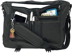 "ImpecGear 16.5"" 17"" Inches Expandable Laptop Case Briefcase Messenger Bag Computer Bag (PFG Black 17"")"