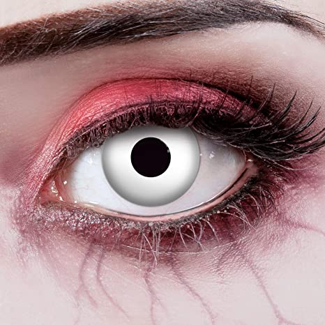 Alien Kontaktlinsen Halloween Horror 3-Monatslinsen ohne Stärke Grün