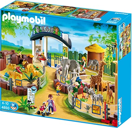Amazon Playmobil Large Zoo With Entrance Toys Games