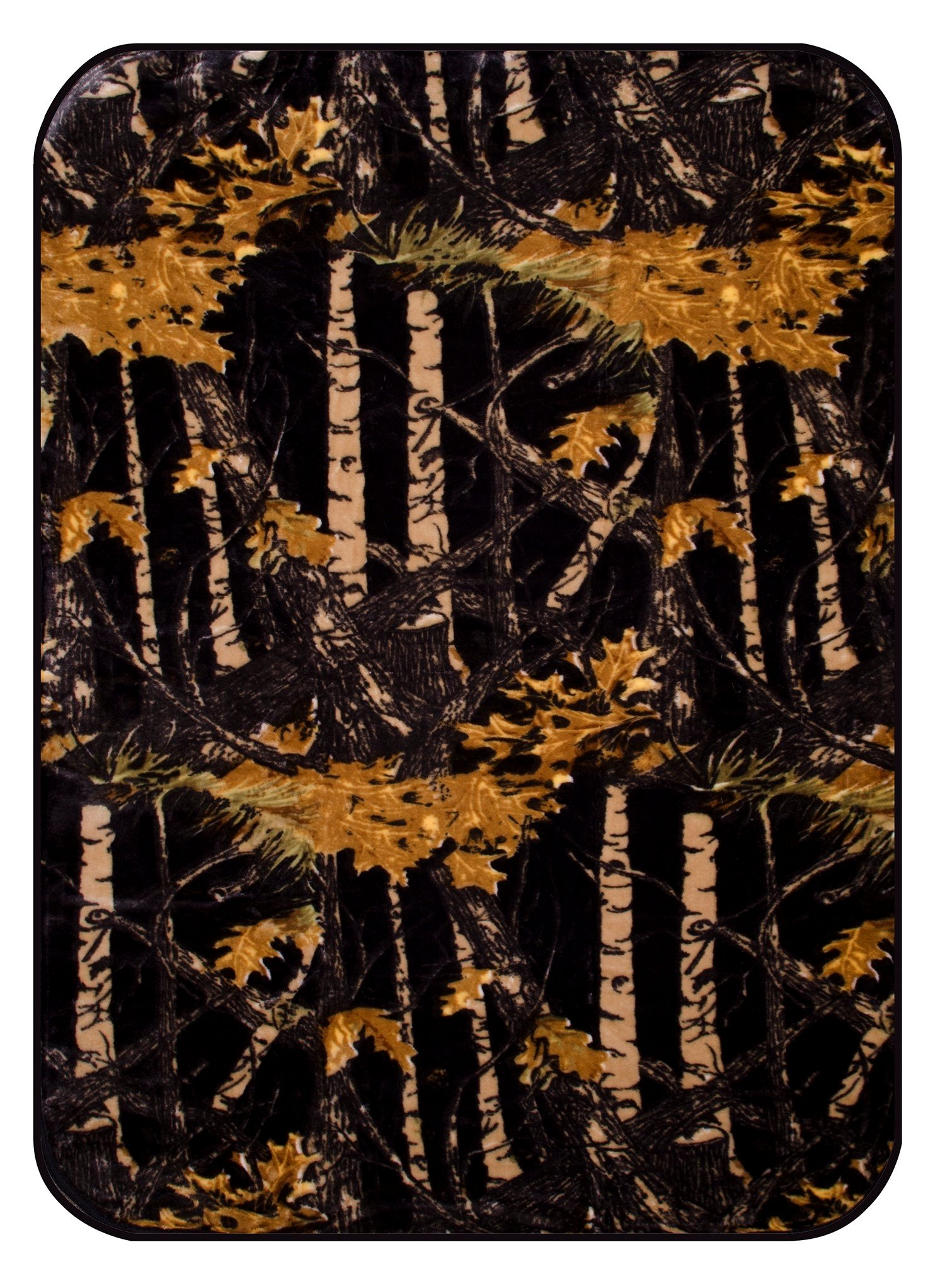 The Woods Camouflage Polyester Mink Baby Blanket (Black Camo, Crib)