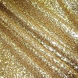 Tessuto al metro Lustrini Oro Glitter genaeht brillare in alta qualità Nuovo