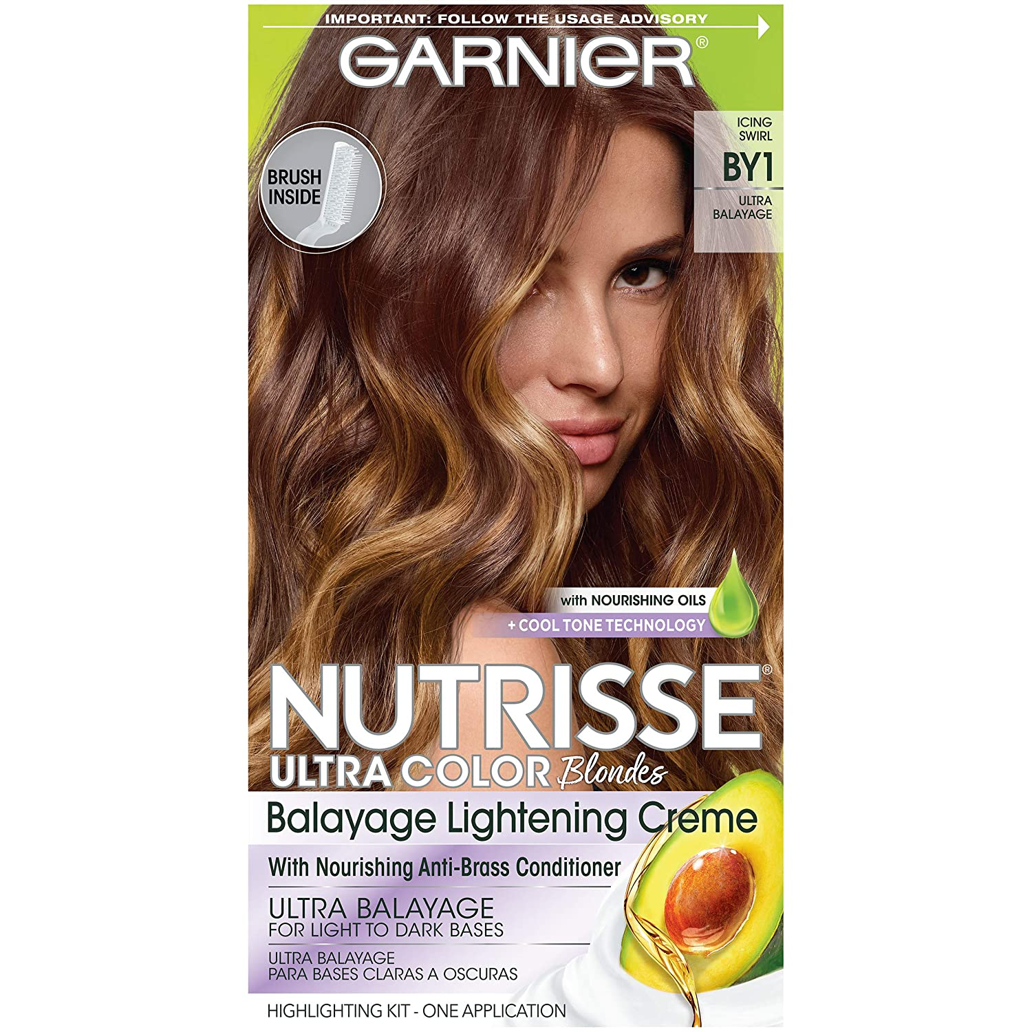 Garnier Hair Color Nutrisse Ultra Color Nourishing Hair Color Creme, Icing Swirl By1, Pack of 1