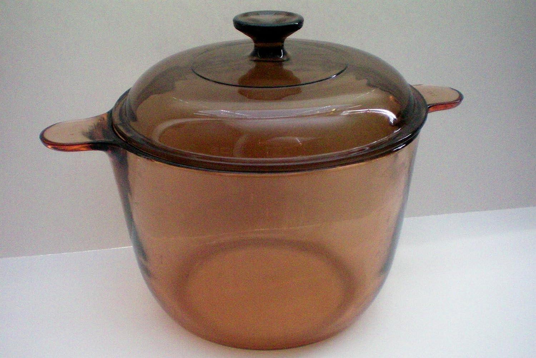 Corning Vision Visions Amber 3.5 L Versa Pot -- as shown -- Original Vision Made in France