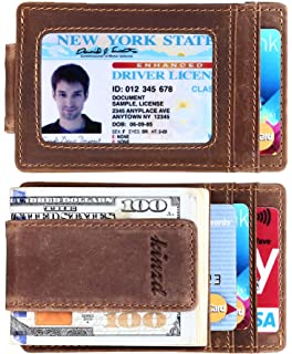 3275a2b476c6 Goson Slim Wallet Leather Money Clip Wallet For Men - Front Pocket ...