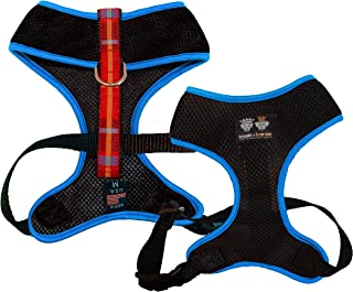 product image for BESSIE AND BARNIE Air Comfort Harness for Pets, Black/Blushing Dots/Turquoise