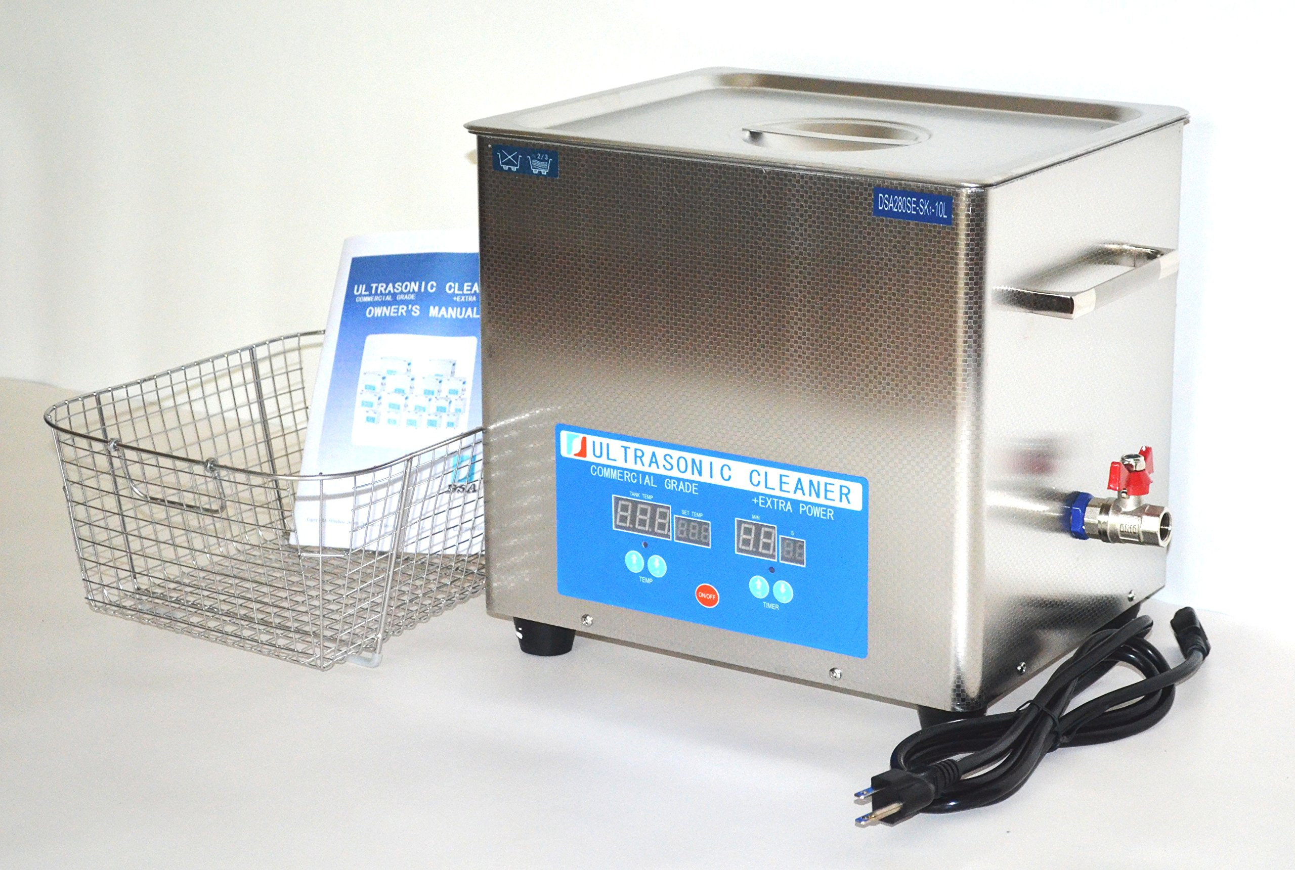 DSA280SE-SK1 40KHz 10L 880W HEATED INDUSTRIAL ULTRASONIC PARTS CLEANER WASHER