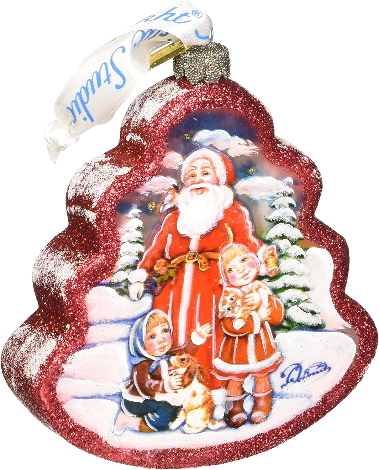G Debrekht Time To Share Tree Glass Ornament Home Kitchen