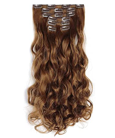 Amazon onedor 20 curly full head clip in synthetic hair onedor 20quot curly full head clip in synthetic hair extensions 7pcs 140g 12 pmusecretfo Images