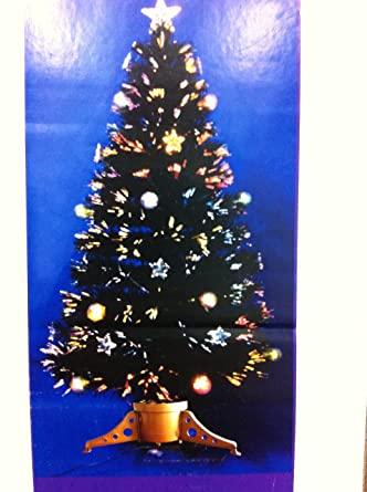 80cm(3ft)fibre Optic Christmas Tree With Star And Baubles