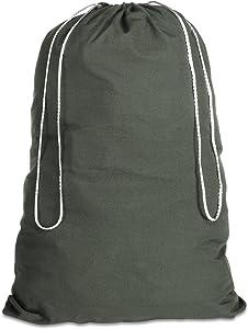 Whitmor Cotton Laundry Bag-Duffel Green