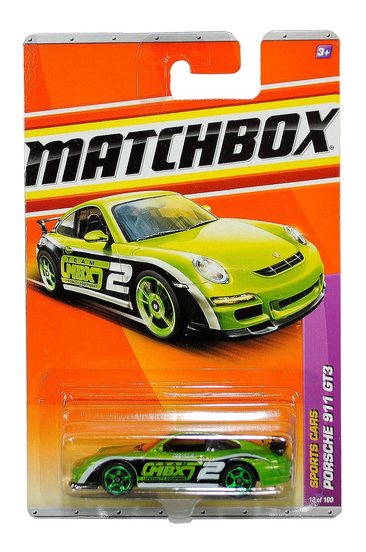 Mattel Year 2010 Matchbox MBX Sports Cars Series 1:64 Scale Die Cast Car  12 - Metallic Grün Farbe High Performance Luxury Sport Coupe PORSCHE 911 GT3 (T8919) by Matchbox