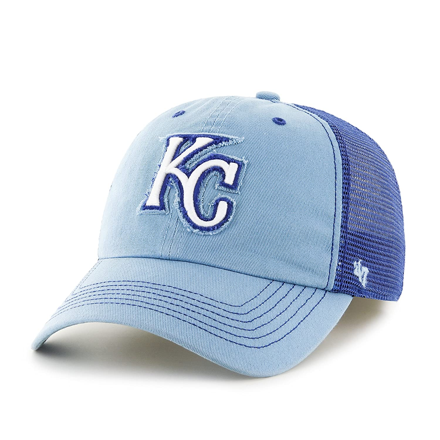 competitive price b27e7 15c76 Amazon.com   MLB Kansas City Royals Taylor Closer Stretch Fit Hat, One Size,  Columbia   Sports   Outdoors