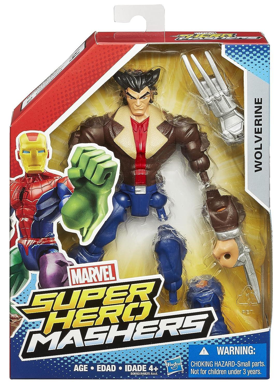 Marvel Super Hero Mashers Wolverine Figure Hasbro B0692AS0