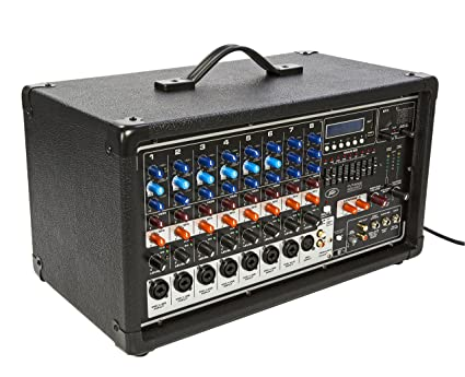 Peavey PVI8500 400-Watt 7-Channel Powered Mixer Item Number 03601860