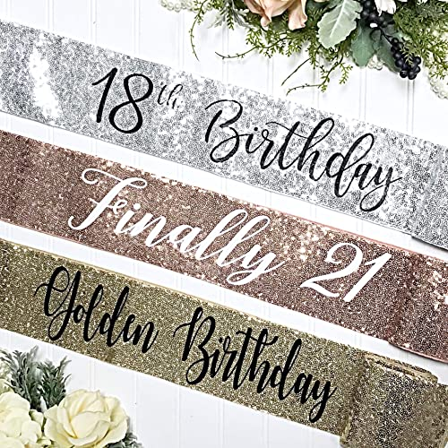 Amazon com: Sequin Birthday Sash - Sequin Birthday Sash