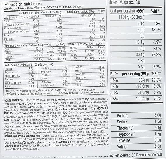 Starlabs Nutrition BM4 Big Muscle Suplemento Nutricional Sabor Plátano - 2000 gr: Amazon.es: Salud y cuidado personal