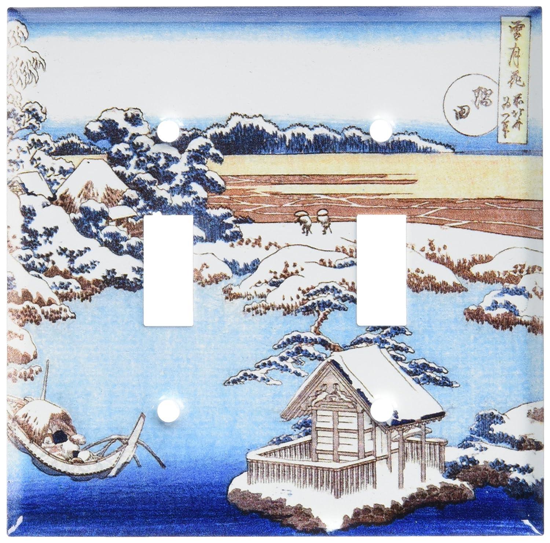 Sumida River Switch Plate Hokusai Art Plates Triple Toggle 490-T-plate