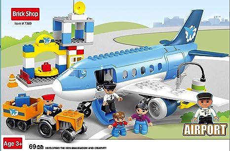 Amazon Brick Shop Airport Passenger Terminal With Airplane