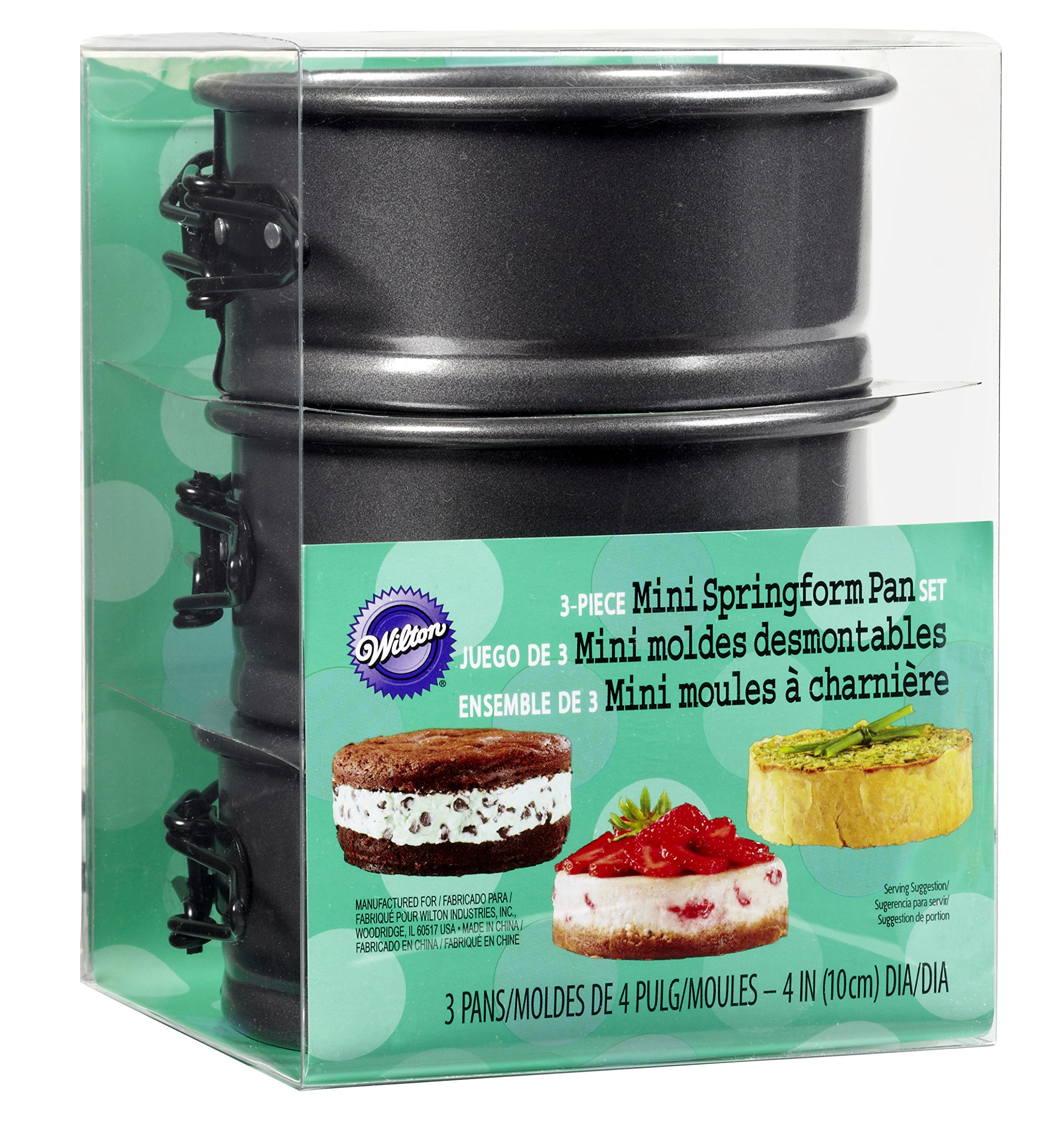 Wilton 4-Inch Mini Springform Pans Set, 3-Piece for Mini Cheesecakes, Pizzas and Quiches by Wilton (Image #3)