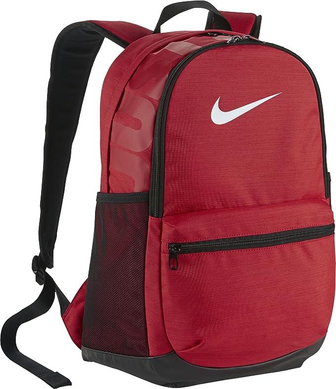 Nike Brasilia Medium Backpack (UNVREDWHITE)