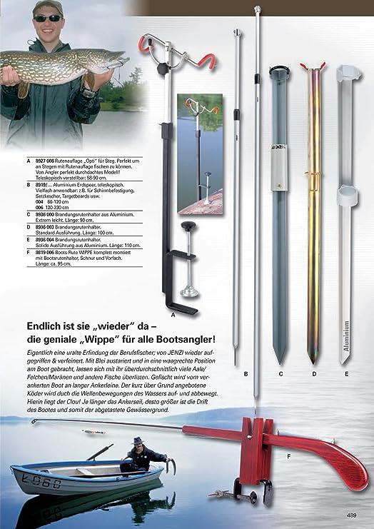 Stilvolle Rostfreie Klammer am verstellbaren Angelrutenhalter f/ür Schienen aus Edelstahl f/ür Marine Boot 25 bis 32mm FreeTec 2Stk