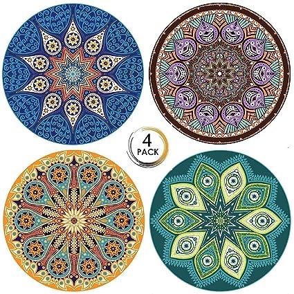 PBELE Posavasos de cerámica, 4 Unidades, con Piedra ...