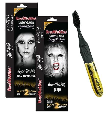 Brushbuddies Lady Gaga Singing Toothbrush - Cepillo de dientes manual musical, color dorado
