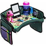 Kids Car Seat Travel Tray - with BONUS SNAKES & LADDERS GAME. Reinforced Base + Walls | Industrial Grade Zips | 100% Detachable Organizer Tray | Portable Toddler Play Tray for Car, Plane, Stroller