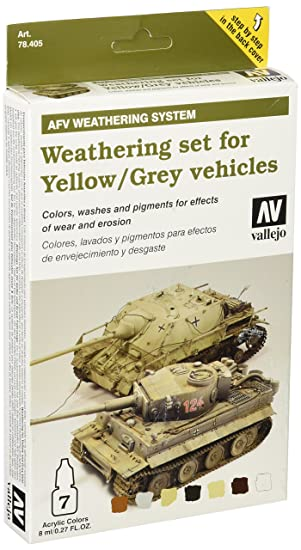 Vallejo Model Color AFV Weathering Set for Yellow and Grey Vehicles