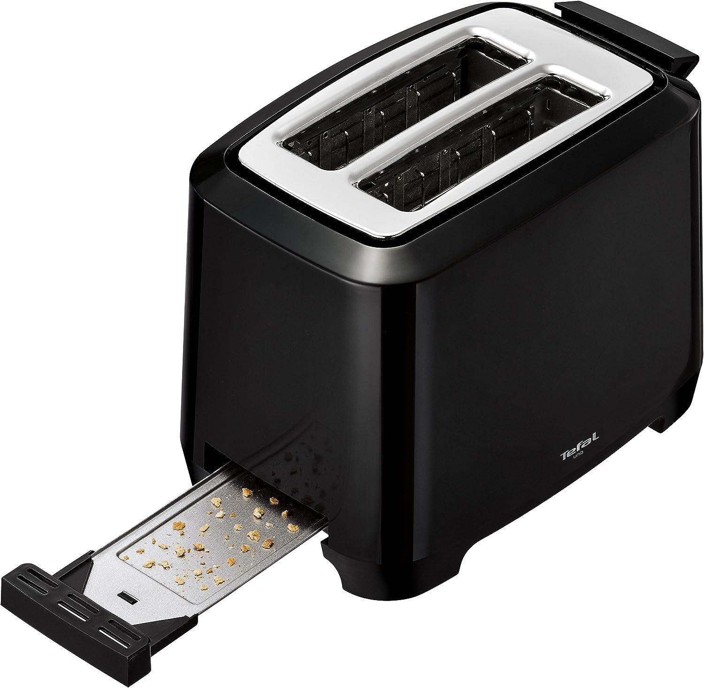 schwarz 7 Br/äunungsstufen Tefal Uno TT1408 Scheibentoaster 800 Watt