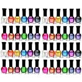Kleancolor Nail Polish - Awesome Metallic Full Size Lacquer 4 Packs of 12-pc Set