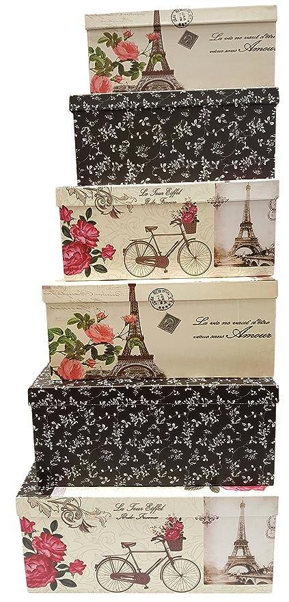 Amazon alef elegant decorative themed extra large nesting gift alef elegant decorative themed extra large nesting gift boxes 6 boxes nesting boxes beautifully negle Image collections