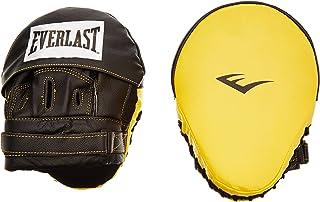 Everlast Leather Mantis Guanto da Passata, Nero/Giallo 410
