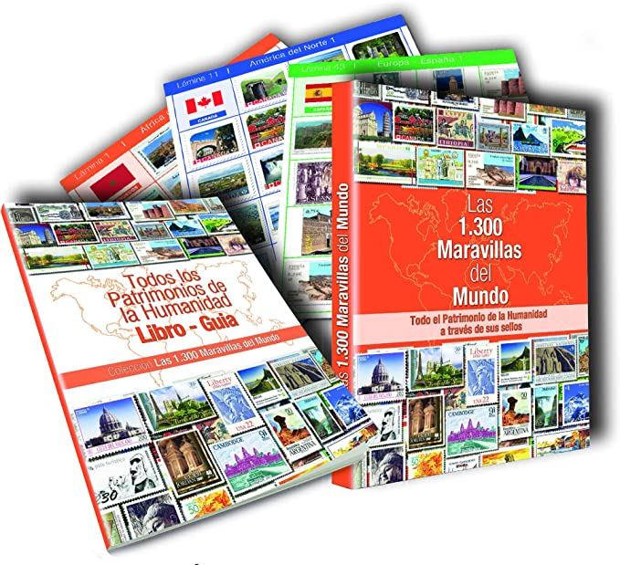 Colección 1300 Maravillas del Mundo.1.300 sellos autoadhesivos ...