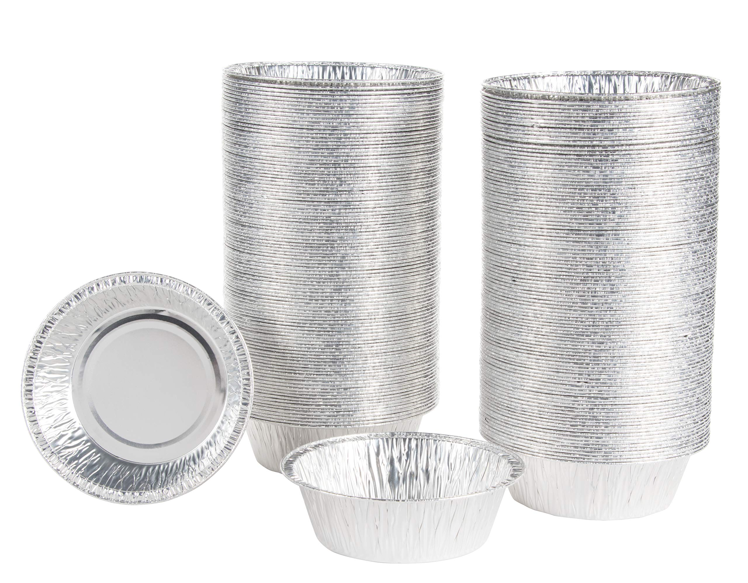 Aluminum Foil Pie Pans - 200-Piece 5'' Round Disposable Tin Pans for Baking, Roasting, Broiling Cooking, For Temperatures Up To 300-F, 5 Inch by Juvale (Image #1)