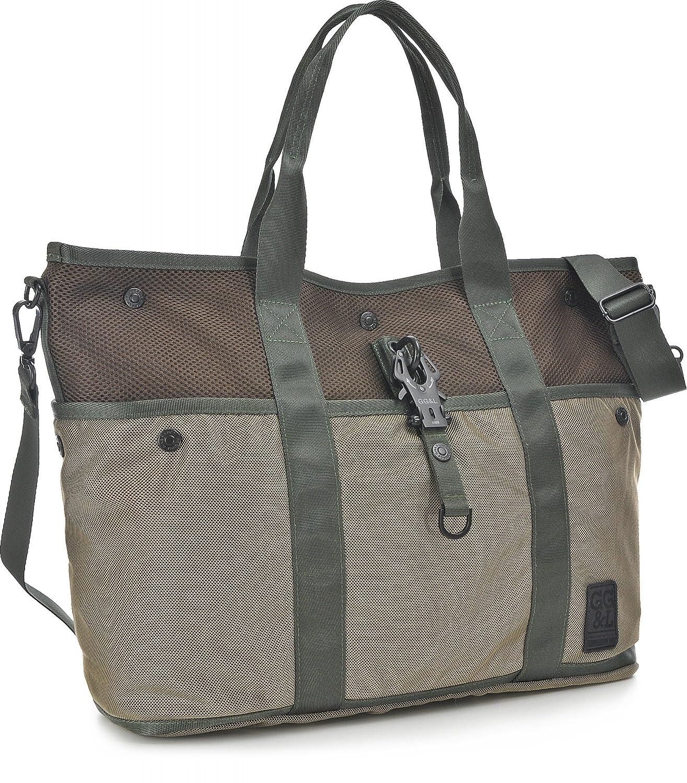 Damen Handtaschen, Weekender, Umhängetaschen, Sport-Taschen, Grün, 54,5 x 33,5 x 4 cm (B x H x T) George Gina Lucy