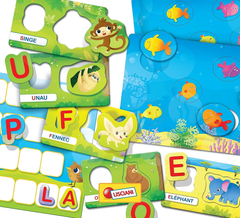 Mots et Chiffres Lisciani Jeux Educatifs-FR57795-Carotina Alphabet FR57795