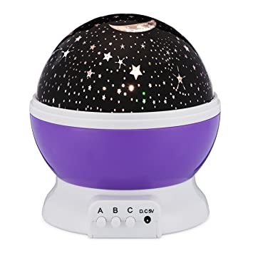 nursery ceiling light led star night light rotating indoor projector lamp galaxy moon space twilight ceiling lighting for baby amazoncom