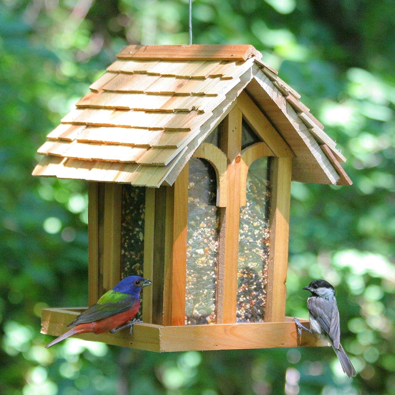wooden artminds feeder wood birdhouse bird tall