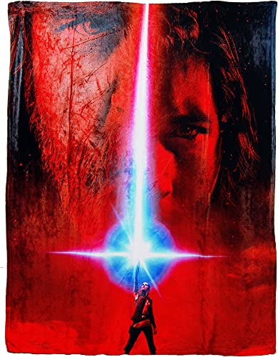 Disney Star Wars The Last Jedi, Movie Poster HD Silk Touch Throw Blanket, 50 x 60 , Multi Color