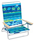 Rio Brands ASC590-807-1 Classic 5 Position Lay Flat Folding Beach Chair, Fish & Turtles