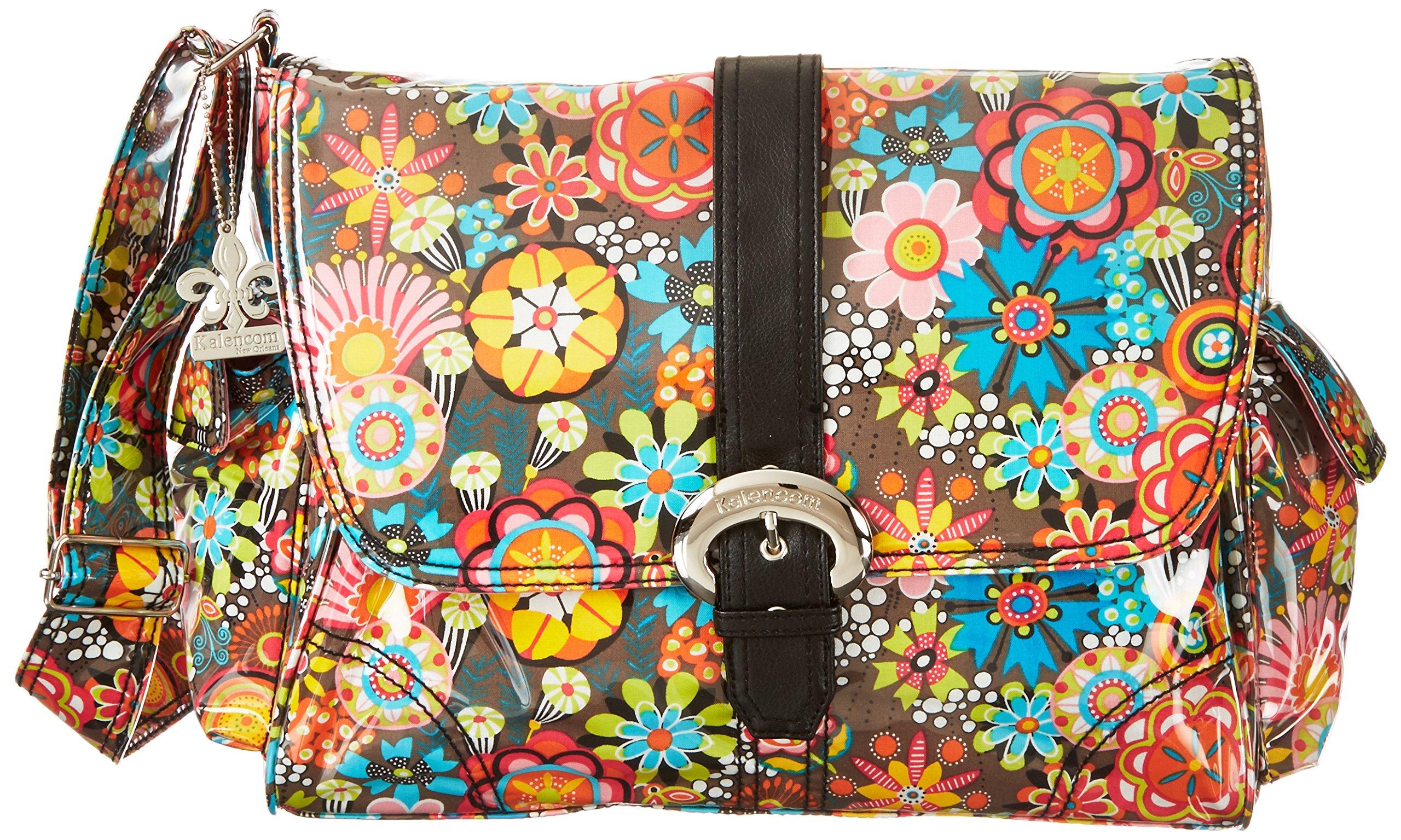 Kalencom Laminated Buckle Bag, Retro Floral