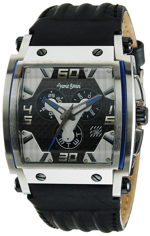 AntonioベルニーニメンズFighterクロノグラフダイヤル腕時計ブラック B00ATB0B9K