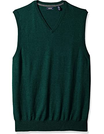 2477d5e7443ab6 IZOD Men's Big and Tall Premium Essentials Solid V-Neck 12 Gauge Sweater  Vest